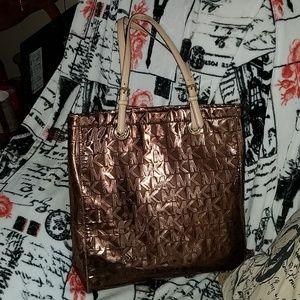 Michael Kors bronze colored purse